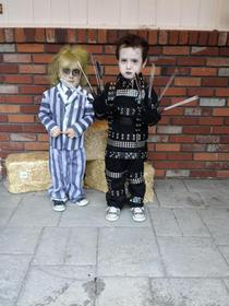 Coolest costumes for toddlers ever Edward and Beetlejuice