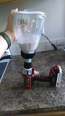 Couldnt find the bottom part of my blender so I improvised