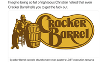 Crackers getting banned from Cracker Barrel