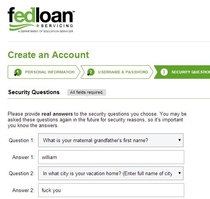 Creating my student loan account online