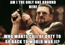 Current-gen Call of Duty set in World War  please
