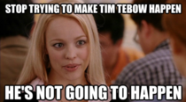 Current headline on ESPN - Popular Tebow released by Patriots and this was all I could of