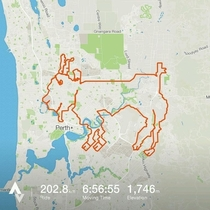 Cyclists in Perth Cycle km to Draw Goat