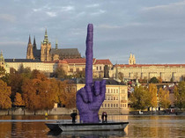 Czech artist sending a subtle message to politicians