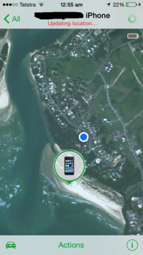 Dad got drunk and disappeared from the New Years Eve party Find My iPhone found him passed out at the beach