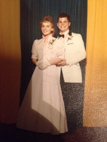 Dad had a shit eating grin because he was pinching my moms ass in their prom pic