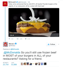 Damn Wendys coming at McDonalds with the savagery