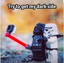 Dark side selfies