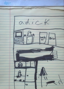 Daughter making plans for a new dollhouse Im a little concerned about whats happening in the attic