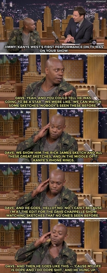 Dave Chappelle talks about when Kanye West was on his show