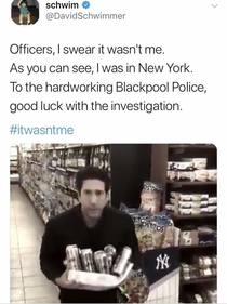 David Schwimmer responds to claims he stole beer in Blackpool