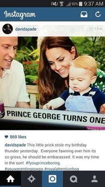 David spade isnt to impressed with the royal baby