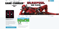 Deadpool Movie Only follows One Page on Twitter