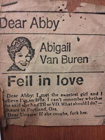 Dear Abby more helpful than you think