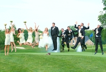 Decided to levitate at my wedding last month No photoshop used