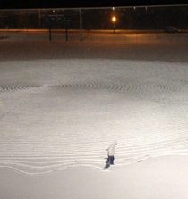 Defeated by finals week this kid was on the baseball field at am making crop circles