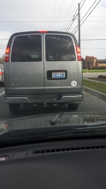 Descriptive license plate