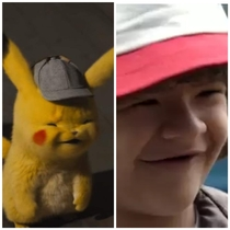 Detective Pikachu looks exactly like Dustin from Stranger Things