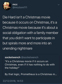 Die Hard is a Christmas movie