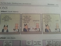 Dilbert got dark in a good way