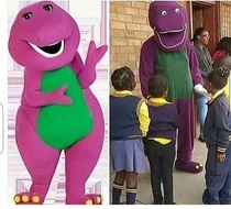 Discount Barney costume