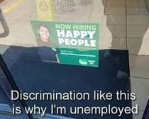 Discrimination at its finest