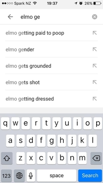 Discussing what Elmos gender is Decided to Google it Decided to stop