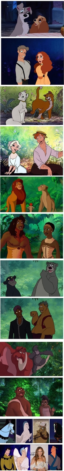 Disney animals and their human forms