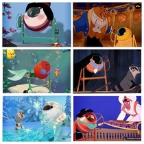 Disney Princesses as cement mixers