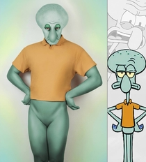 Disturbing Squidward Cosplay