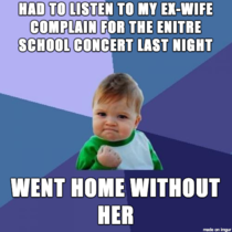 Divorce aint so bad sometimes
