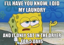 Doing laundry as a single -something guy