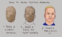 Dont know is potato being trolled or Peyton manning