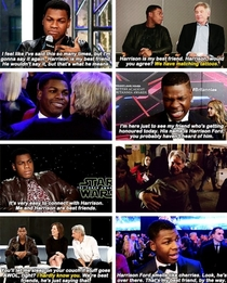 dont settle until youve found someone who loves you as much as john boyega loves harrison ford