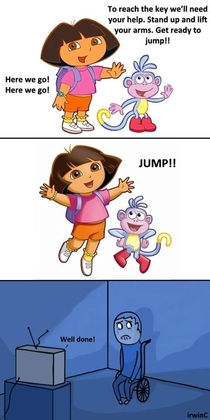 Dora is indifferent to your suffering