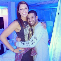 Drake looking like a proud girlfriend yet again With UCONNs Stefanie Dolson