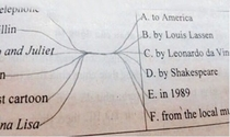Draw a line to the correct answer