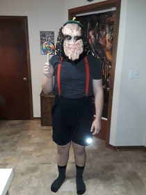 Dressed up as a child predator for a Halloween party