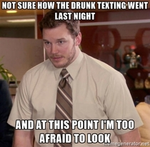 Drinking and texting