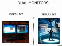Dual screen looks like vs feels like