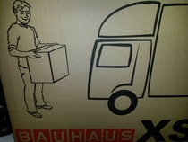 Dude on my moving box looks shady as fuck