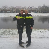 Dutch police adapting to the rough conditions
