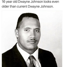 Dwayne Johnson grows younger