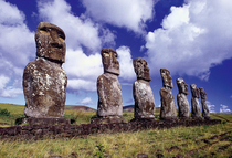 Easter island socially distancing before it was the trend