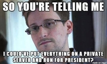 Edward Snowden is wondering