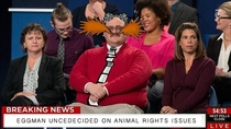 Eggman remains undecided on animal rights issues