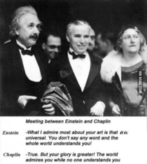Einstein and Chaplin on each others art