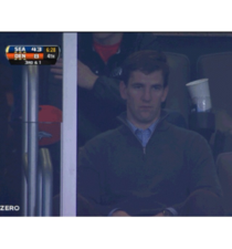 Eli Mannings face