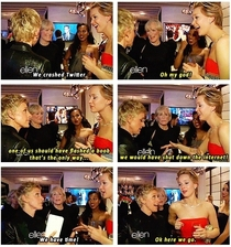 Ellen and Jennfer Lawrence on crashing Twitter