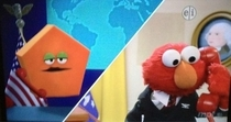 Elmo contacting the pentagon